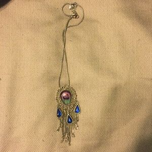 Betsy Johnson dream catcher necklace